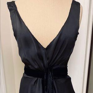Prada Silk Top With Velvet Wrap/ Tulip Skirt